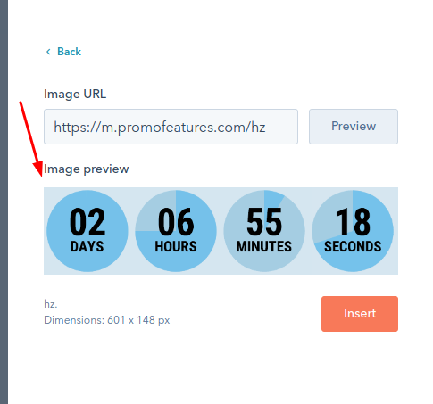 Countdown timer for email