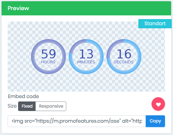 Email countdown timer
