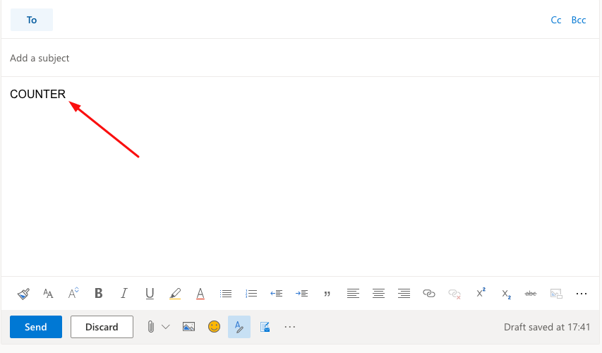 Outlook Editor