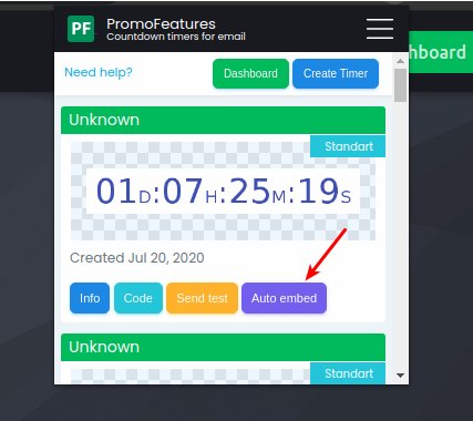 PromoFeatures Countdown Timers Chrome Extension